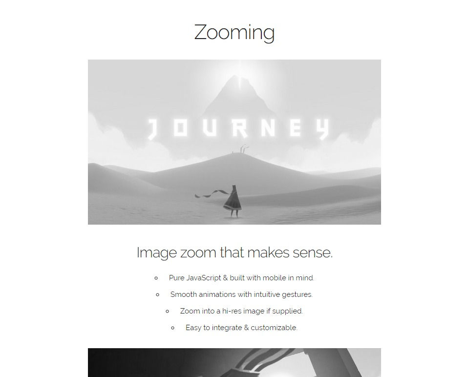 画像ポップアップ用JavaScriptライブラリ『Zooming』公式サイト