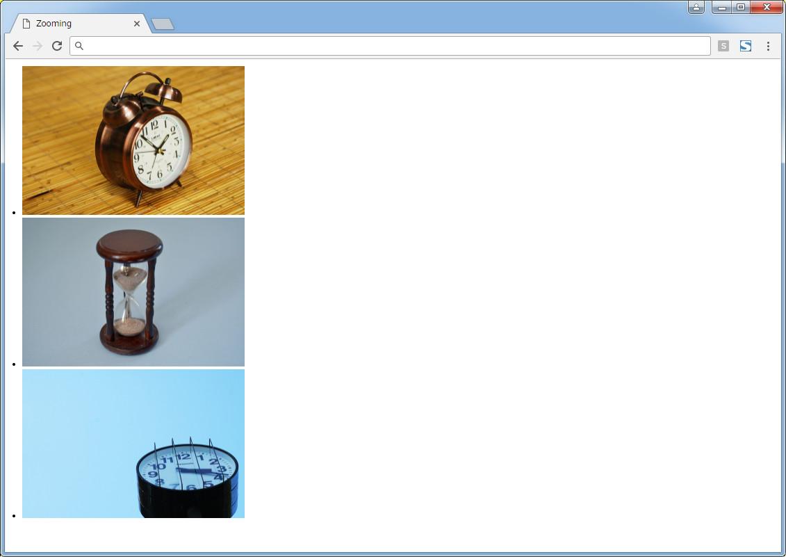 『Zooming』実装用ページ例